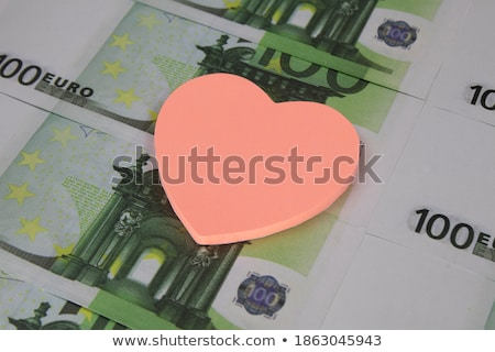 red heart and euro banknotes Stock photo © nito