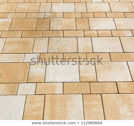 Tijolo piso harmônico padrão parede de tijolos vermelho Foto stock © meinzahn