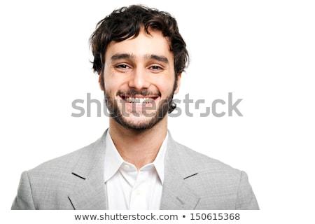 Retrato banqueiro jovem homem trabalhador Foto stock © konradbak