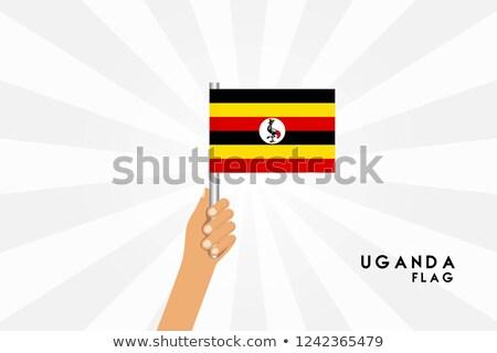 Uganda · zászló · térkép · háromdimenziós · render · izolált - stock fotó © tashatuvango