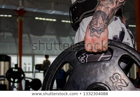 gespierd · jonge · gewichtheffen · gordel · sport - stockfoto © Nejron