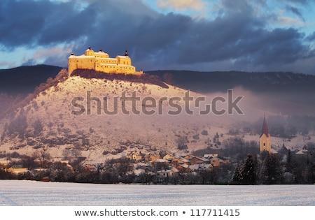 castelo · Eslováquia · arquitetura · europa · história · aldeia - foto stock © phbcz