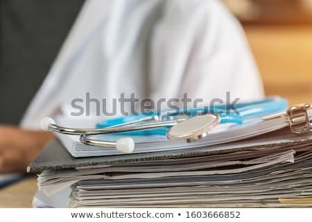 Foto stock: Documentação · hospital · médico · coração · vida · perfil