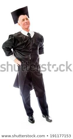 Supérieurs Homme diplômé permanent attitude éducation Photo stock © bmonteny