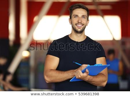 портрет фитнес тренер красивой молодые спортивный Сток-фото © Bananna