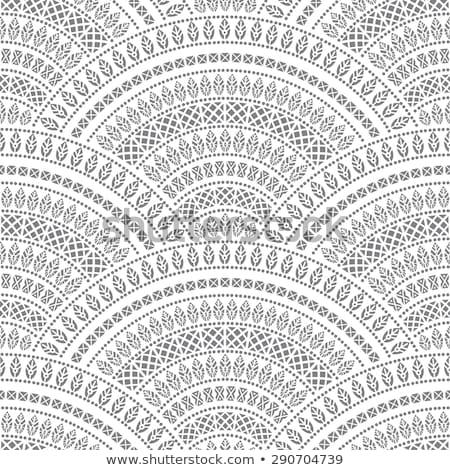 Сток-фото: серый · тротуар · декоративный · волна · бесшовный · текстуры