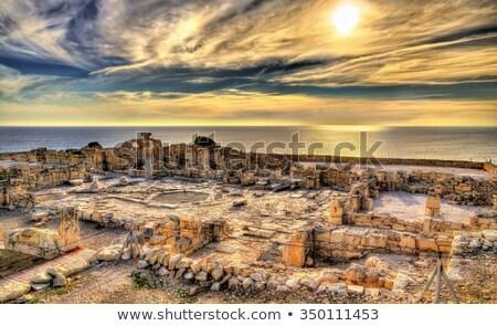 Romok ősi város Ciprus ház város Stock fotó © mahout