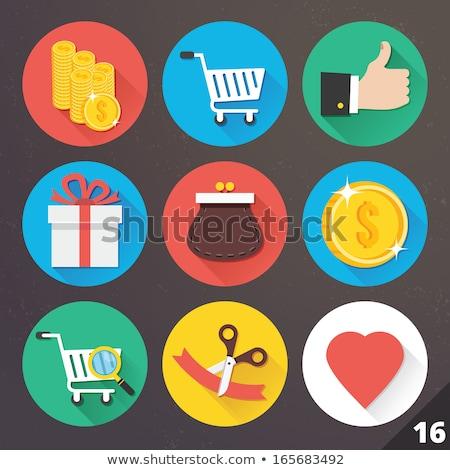 Obecnej szkła przyciski strony streszczenie Zdjęcia stock © aliaksandra