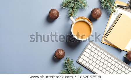 Stock photo: business still life and cup of coffee