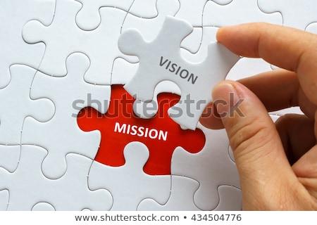 ストックフォト: ビジョン · ミッション · アクション · ビジネス · 抽象的な · 赤