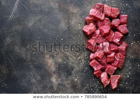 Stuk rundvlees lendenen witte geïsoleerd achtergrond Stockfoto © OleksandrO