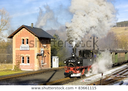 пар поезд Германия дым путешествия Европа Сток-фото © phbcz