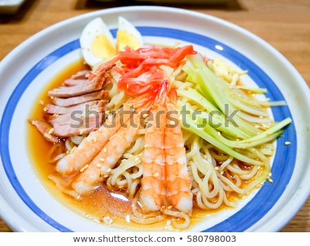 delicious summer prawn and noodles salad Stock photo © Klinker