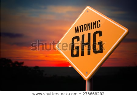ghg on warning road sign stock photo © tashatuvango