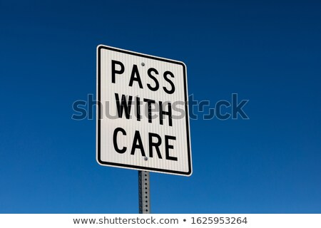 Street Sign with reflection in blue sky background Stock photo © hsfelix