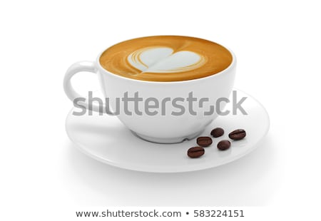 Coffee cup with latte art Stock photo © punsayaporn