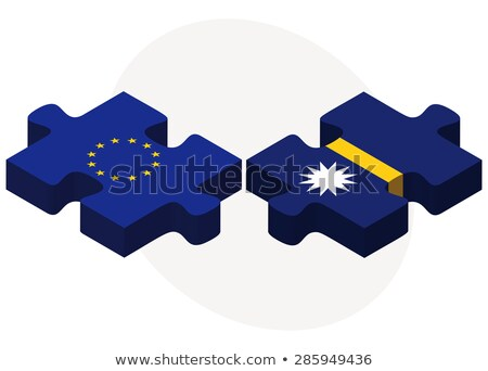 european union and nauru flags in puzzle stock photo © istanbul2009