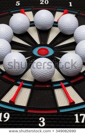 Részlet darts tábla golf golyók fehér sport Stock fotó © CaptureLight