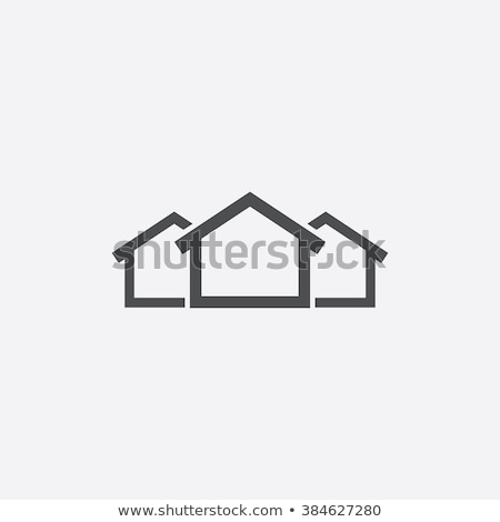 ecological house icon Stock photo © mcherevan