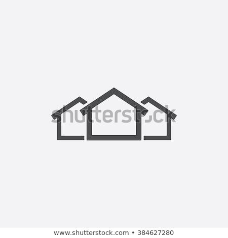 symbol · ekologiczny · domu · energia · słoneczna · odizolowany · biały - zdjęcia stock © mcherevan