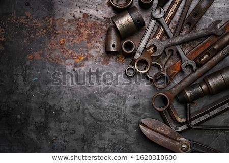 Vintage combinatie schroevendraaier witte hout Stockfoto © RedDaxLuma