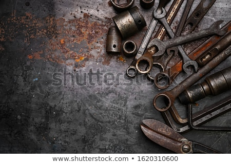 Vintage комбинация отвертка белый древесины Сток-фото © RedDaxLuma