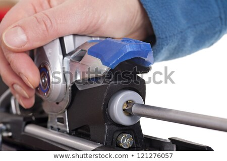 adjusting ski binding release setting Stock photo © Quasarphoto
