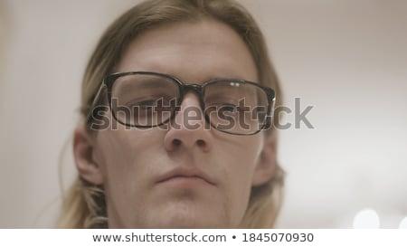 Attractive handsome young man, nostalgic , calm look.  Stock photo © konradbak