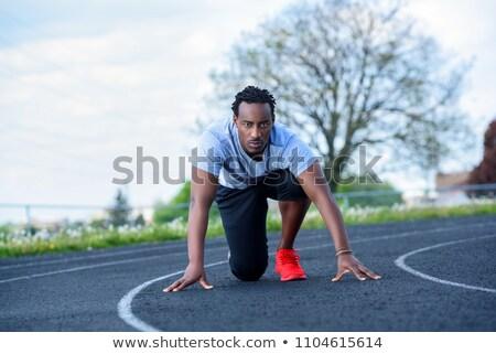 Corredor vermelho correr Foto stock © njnightsky