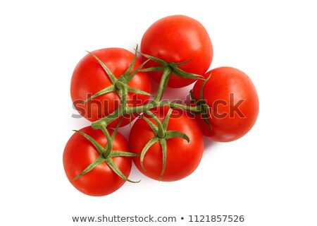 Five ripe red tomatoes on the vine Stock photo © sarahdoow