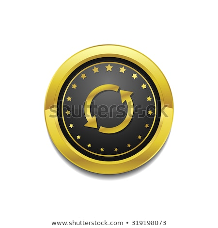 Reset Sync Circular Vector Gold Web Icon Button stock photo © rizwanali3d