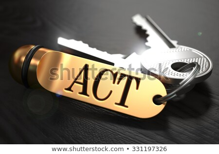 Tett köteg kulcsok szöveg arany fekete Stock fotó © tashatuvango