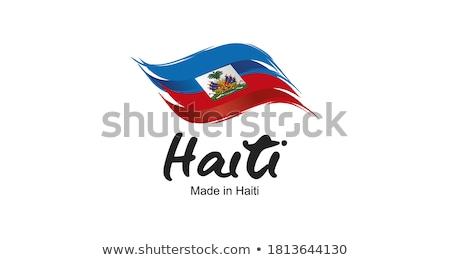 Haïti pays pavillon carte forme texte Photo stock © tony4urban