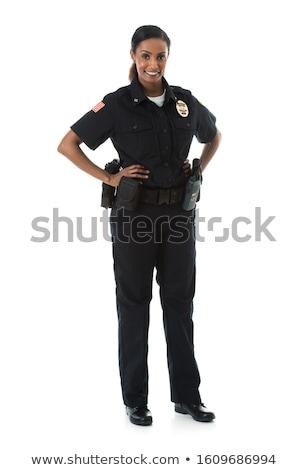 politieagent · plicht · knap · volwassen · vergadering · weg - stockfoto © wellphoto