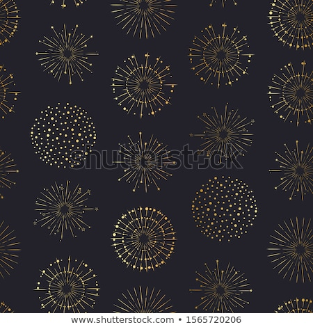 Holiday fireworks seamless pattern stock photo © netkov1