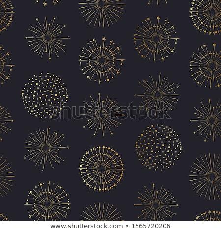 ünnep tűzijáték végtelen minta sötét tűz fény Stock fotó © netkov1
