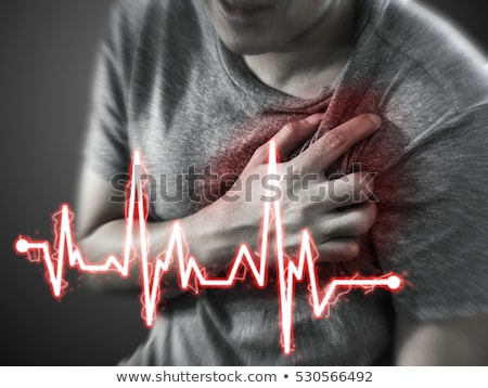 Severe heartache, man suffering from chest pain, having painful  Stock photo © stevanovicigor