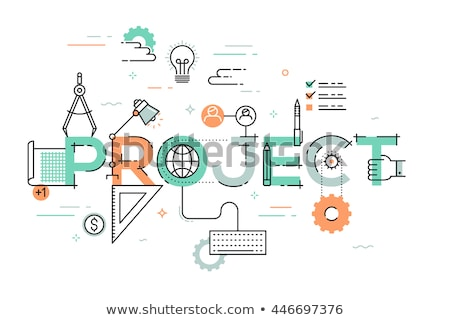 project management and business concept words in flat design inf Stock photo © marinini