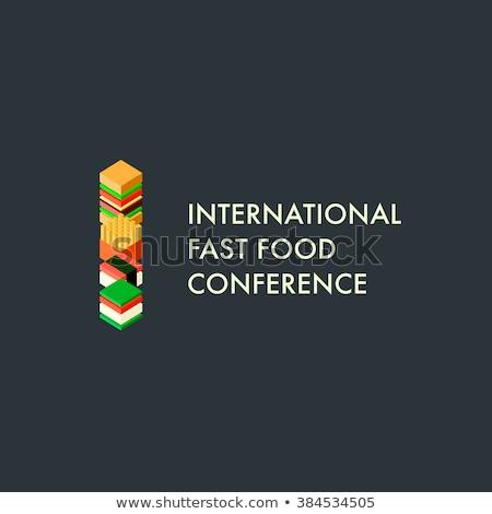 fast · food · menu · sjabloon · fastfood · restaurant · communie · ingesteld - stockfoto © ikopylov