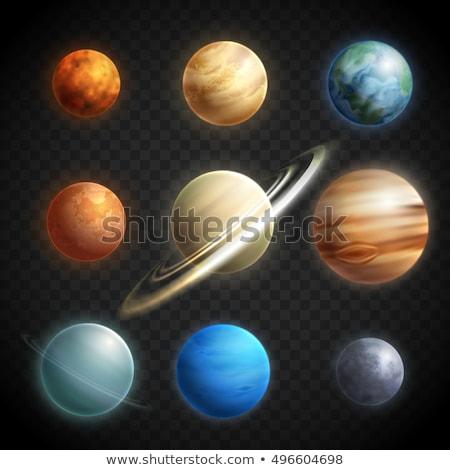 Vektor valósághű bolygó plútó illusztráció színes Stock fotó © TRIKONA