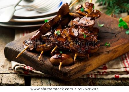 Mushroom Skewer Сток-фото © zoryanchik