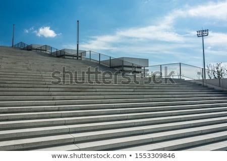 Lépcső modern épület nappal üzlet ház épület Stock fotó © cozyta