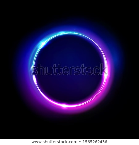 Glowing bulb in black circle Stock photo © simply