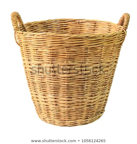 Starych wiklina koszyka odizolowany biały tekstury Zdjęcia stock © OleksandrO