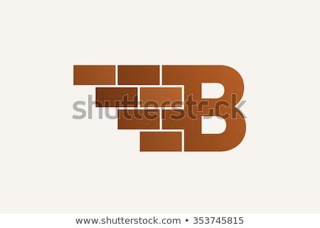 A letter B for bricks Stock photo © bluering