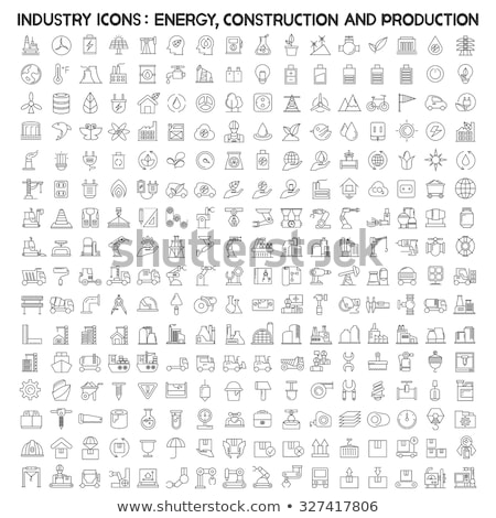 oil industry and energy line icons set stock photo © conceptcafe
