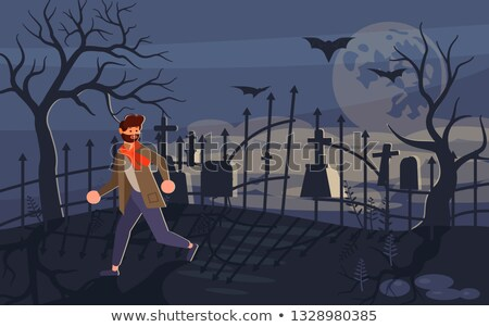 A boy who is afraid of a zombie Stock photo © bluering