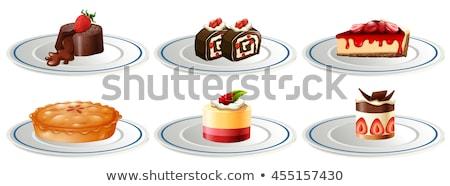グループ · デザート · 白 · 食品 · 背景 · 氷 - ストックフォト © bluering