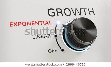 Growth exponential gain. 3D Rendering Stock photo © alphaspirit