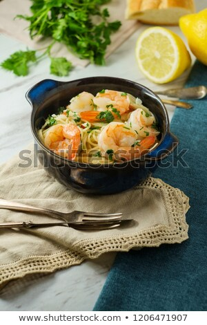 Crevettes queue blanche illustration alimentaire fond Photo stock © bluering